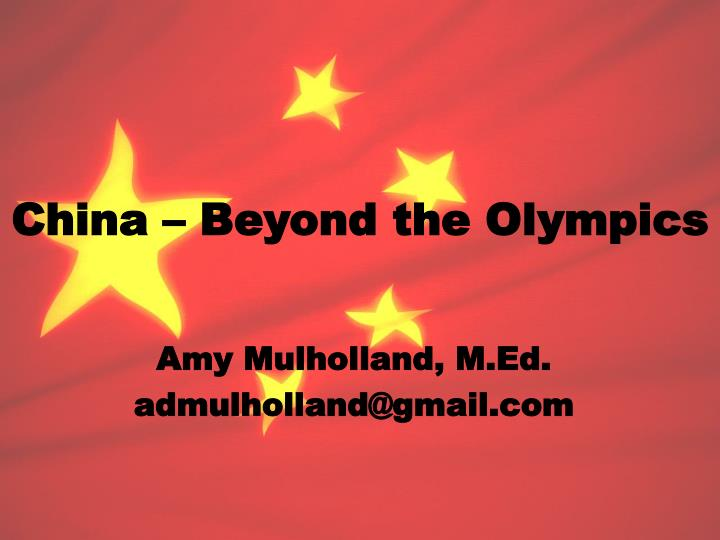 China beyond the olympics