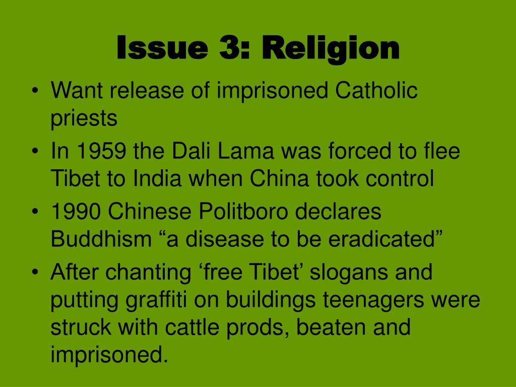 Issue 3: Religion