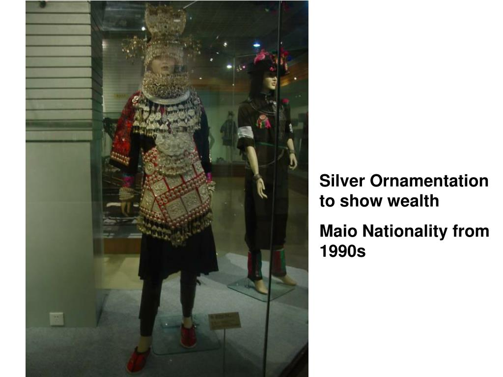Silver Ornamentation to show wealth