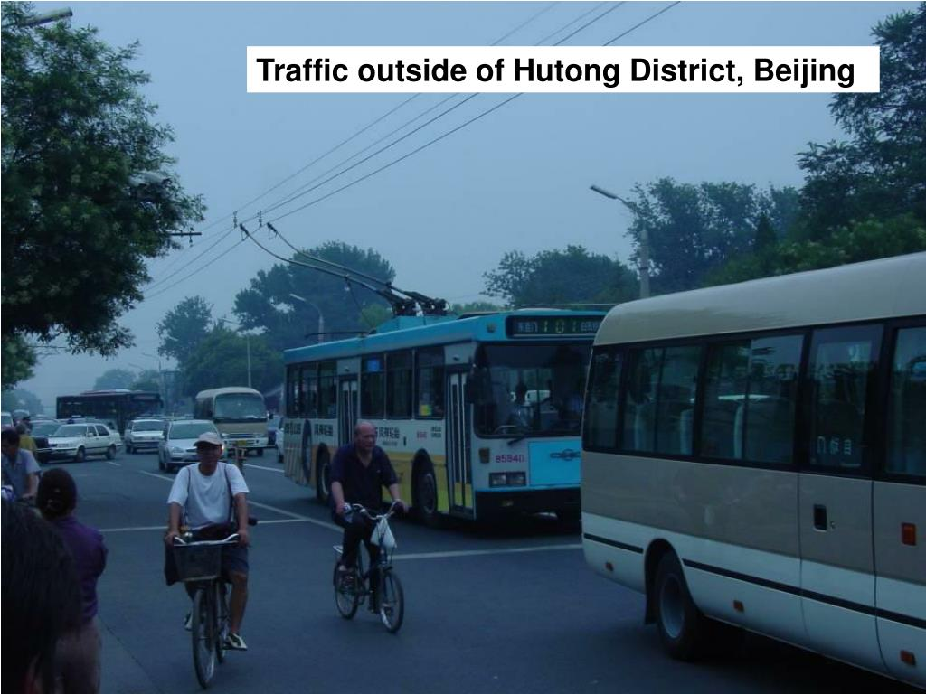 Traffic outside of Hutong District, Beijing