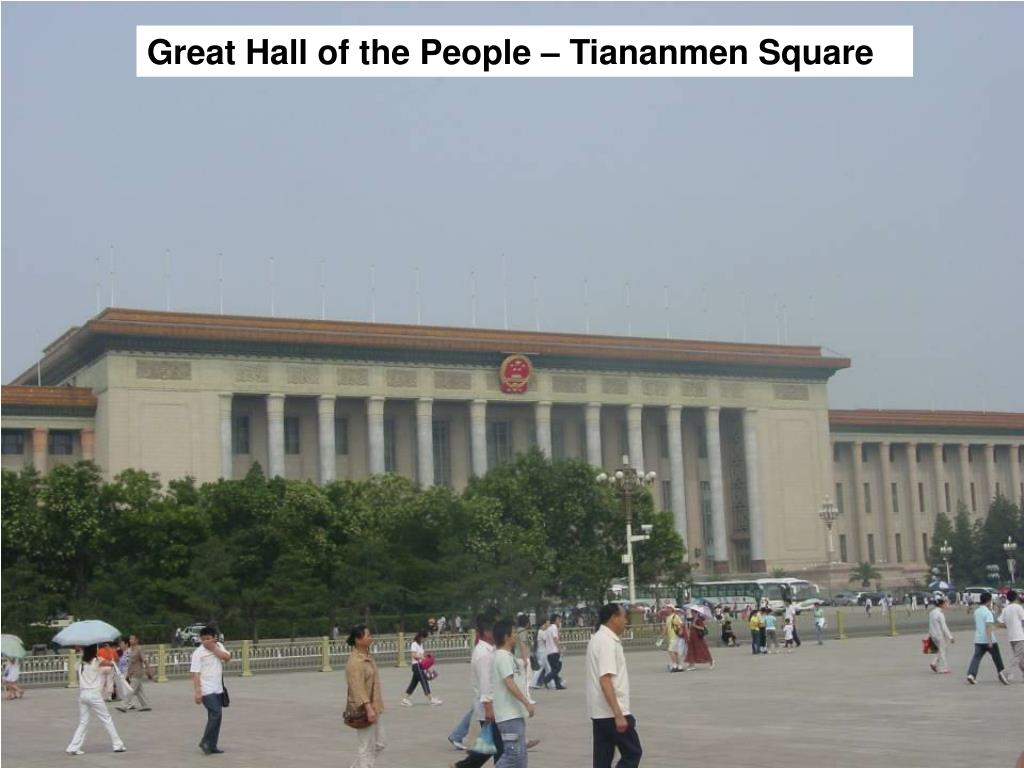 Great Hall of the People – Tiananmen Square