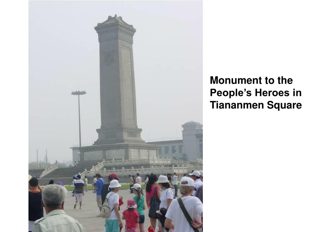 Monument to the People's Heroes in Tiananmen Square