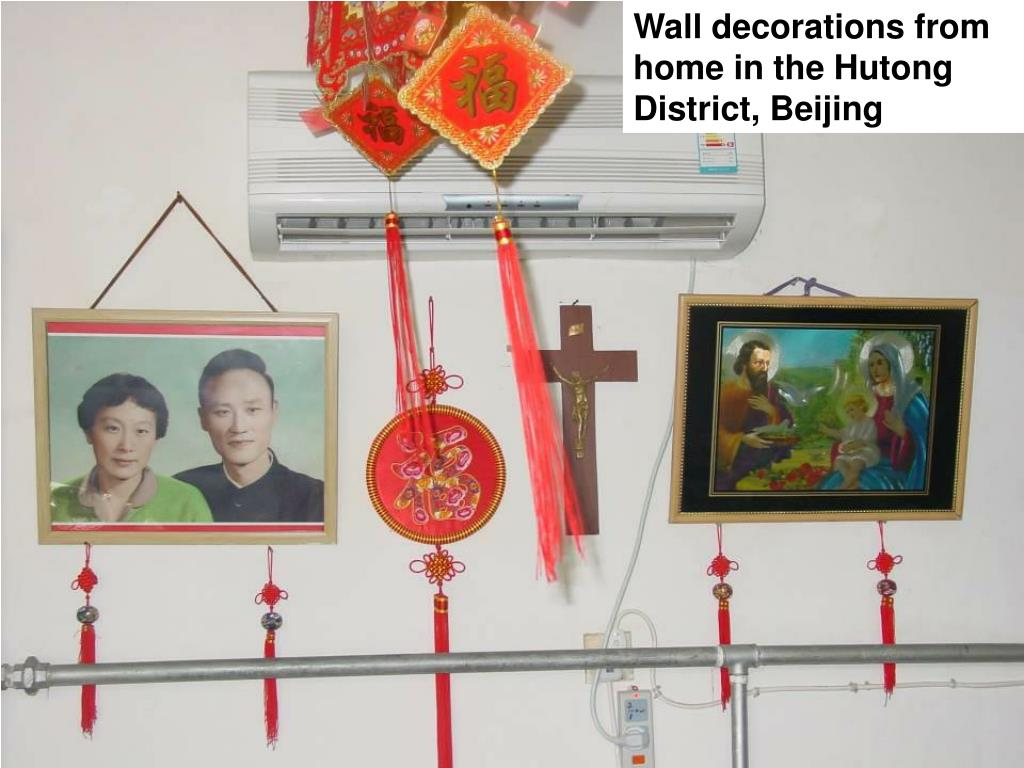 Wall decorations from home in the Hutong District, Beijing