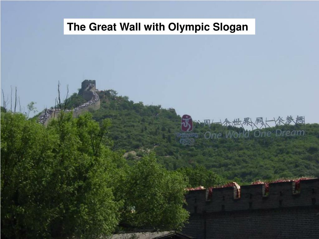 The Great Wall with Olympic Slogan