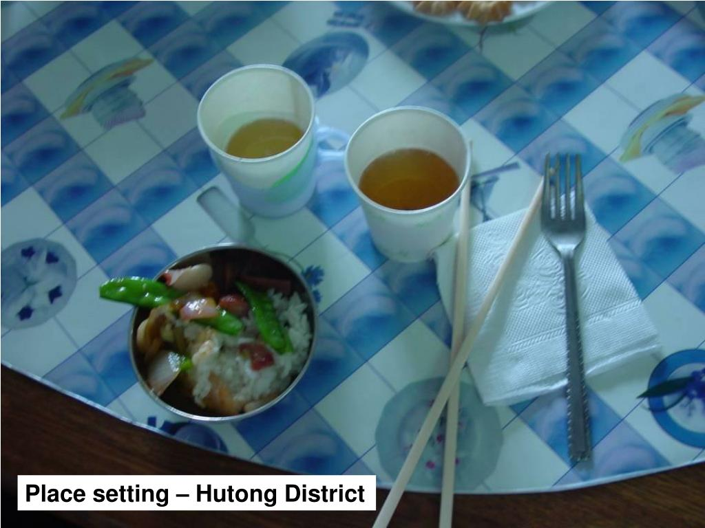 Place setting – Hutong District
