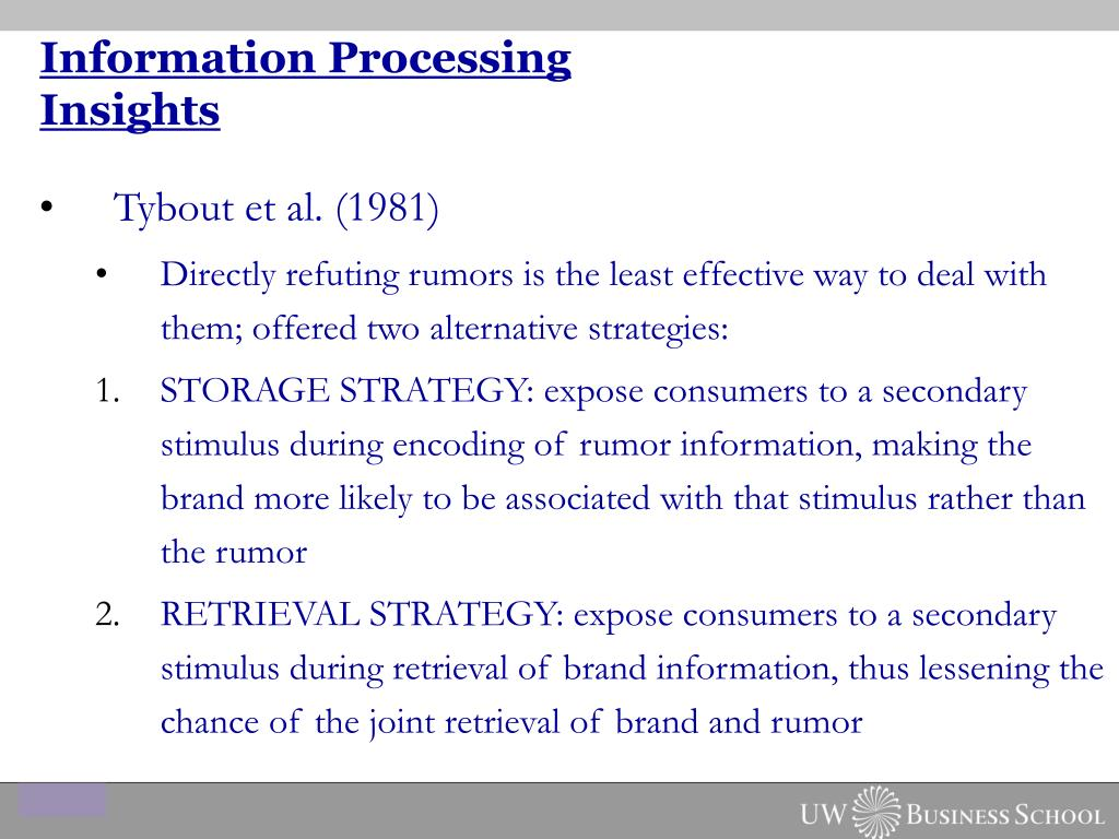 Information Processing Insights