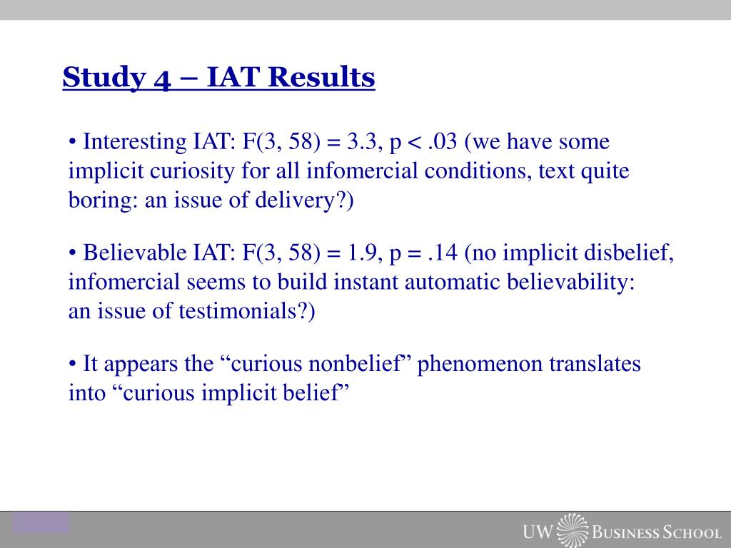 Study 4 – IAT Results