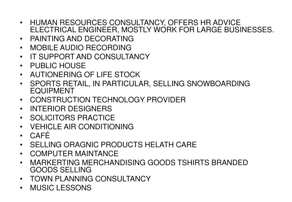 HUMAN RESOURCES CONSULTANCY, OFFERS HR ADVICE ELECTRICAL ENGINEER, MOSTLY WORK FOR LARGE BUSINESSES.