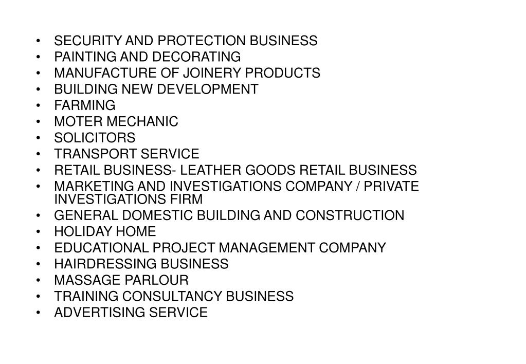 SECURITY AND PROTECTION BUSINESS