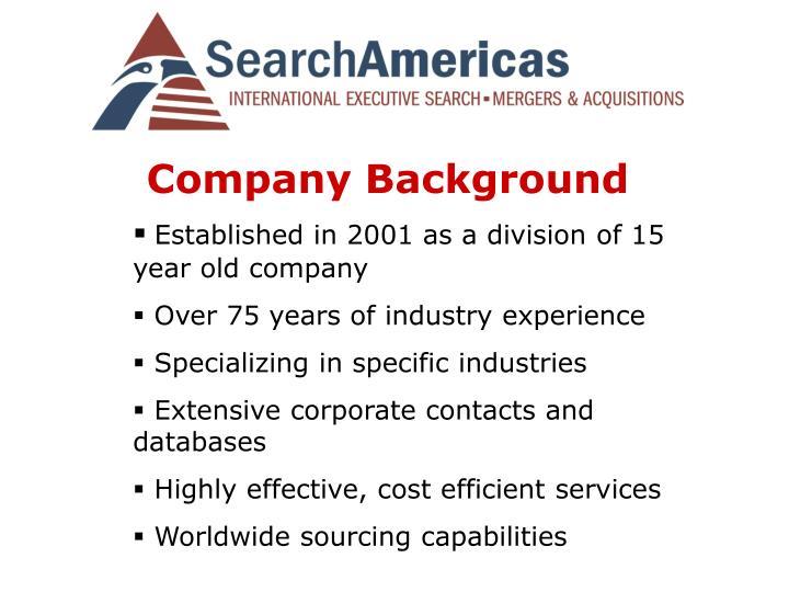 Company background