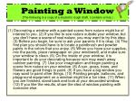 painting a window the following is a copy of a student s rough draft i contains errors