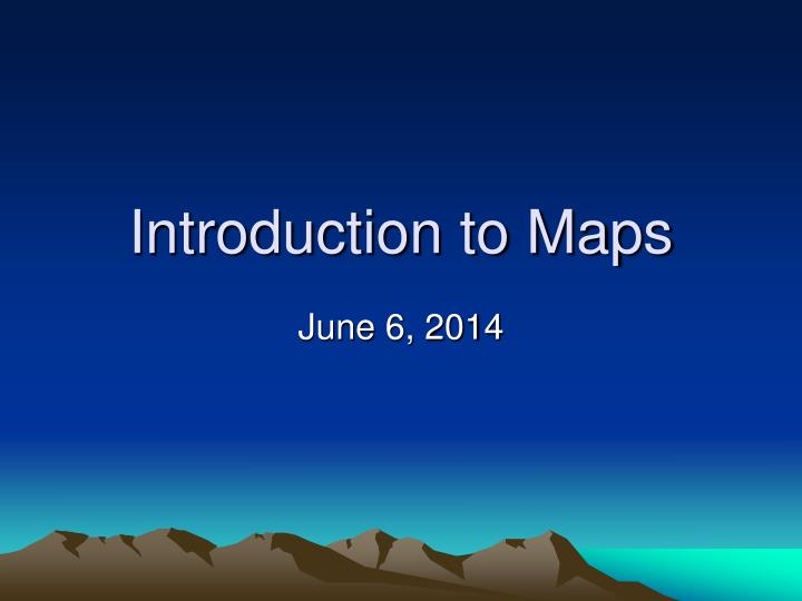 introduction to maps n.