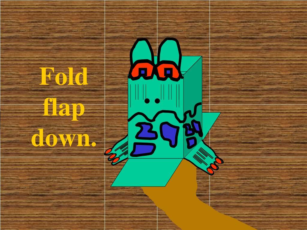 Fold flap down.