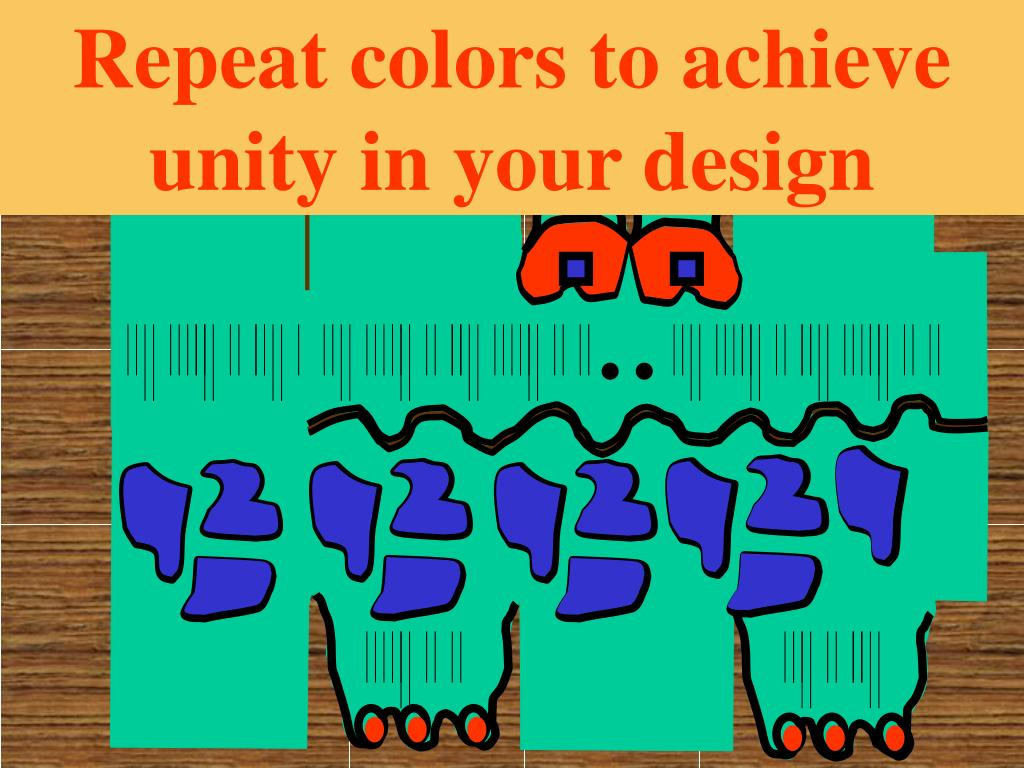 Repeat colors to achieve unity in your design