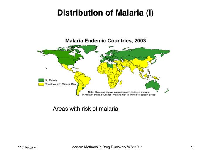 Distribution of Malaria (I)
