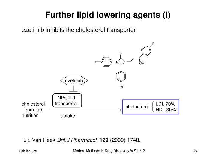 Further lipid lowering agents (I)