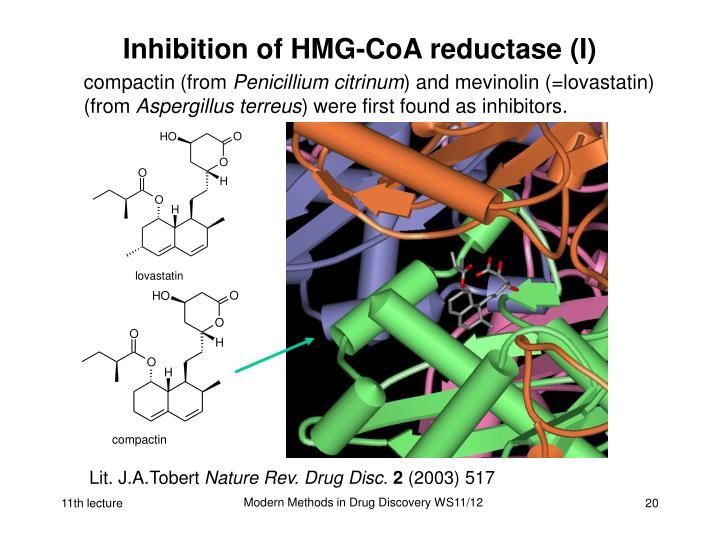 Inhibition of HMG-CoA reductase (I)