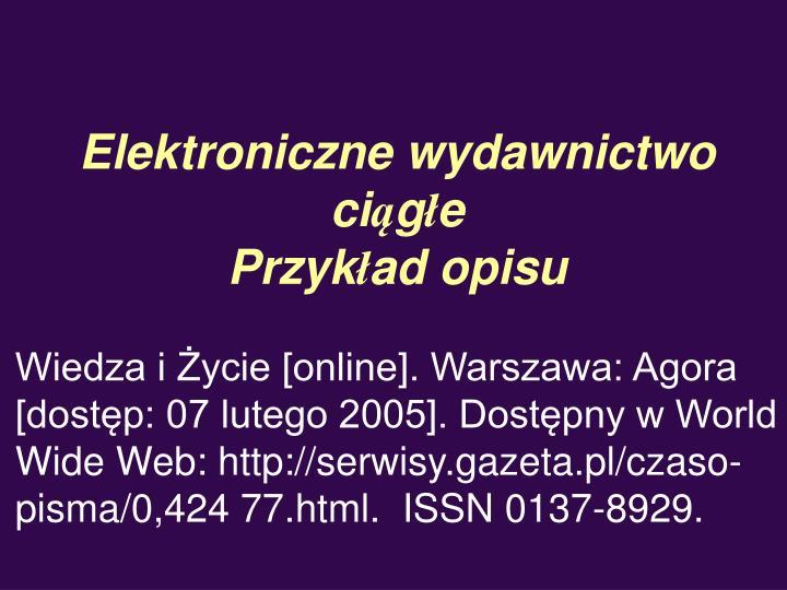 Elektroniczne wydawnictwo ci