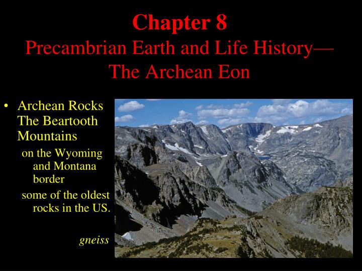 chapter 8 precambrian earth and life history the archean eon n.