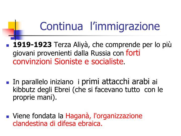Continua  l'immigrazione
