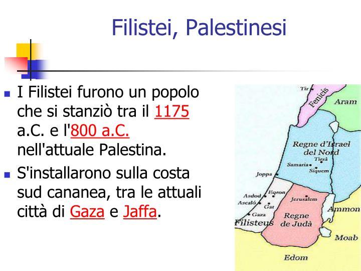 Filistei, Palestinesi