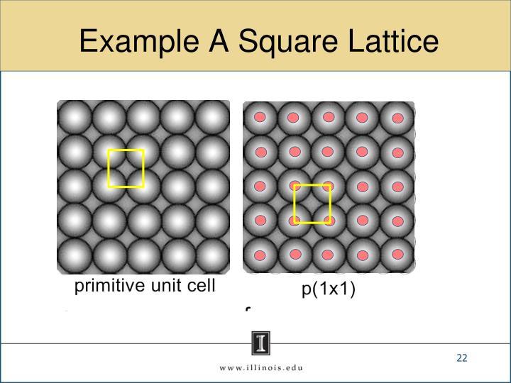 Example A Square Lattice