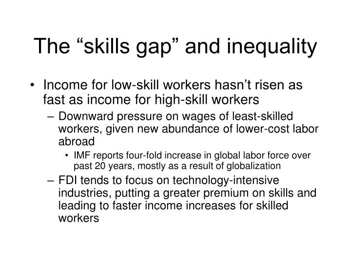 """The """"skills gap"""" and inequality"""