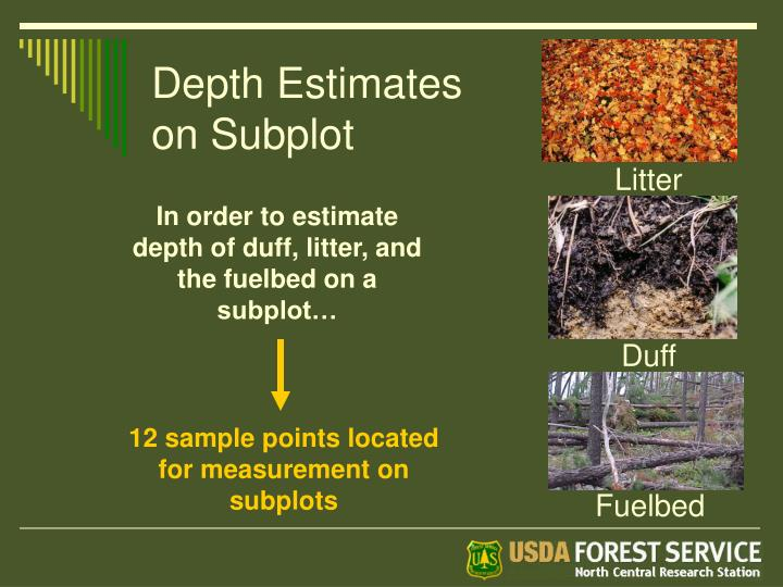Depth Estimates on Subplot