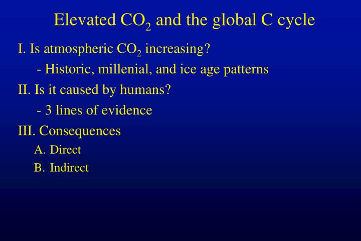 elevated co 2 and the global c cycle n.