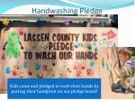 handwashing pledge
