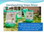 handwashing steps maze