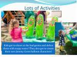 lots of activities