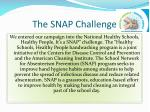 the snap challenge