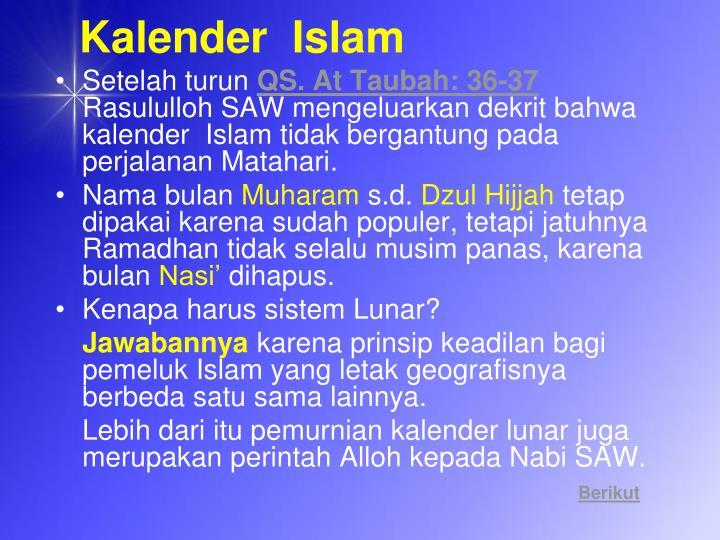 Kalender  Islam