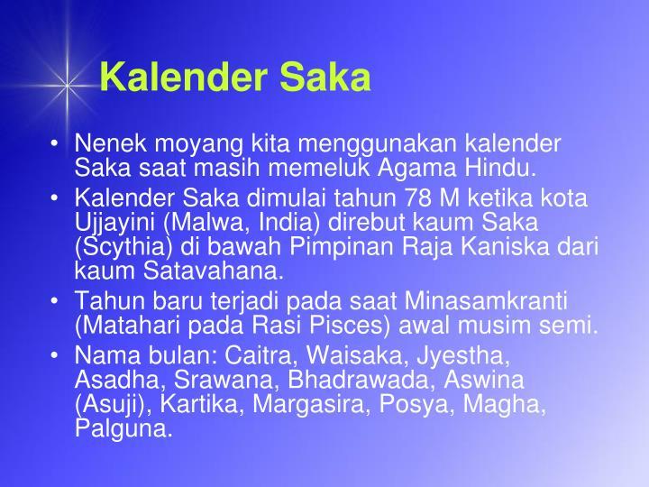 Kalender Saka