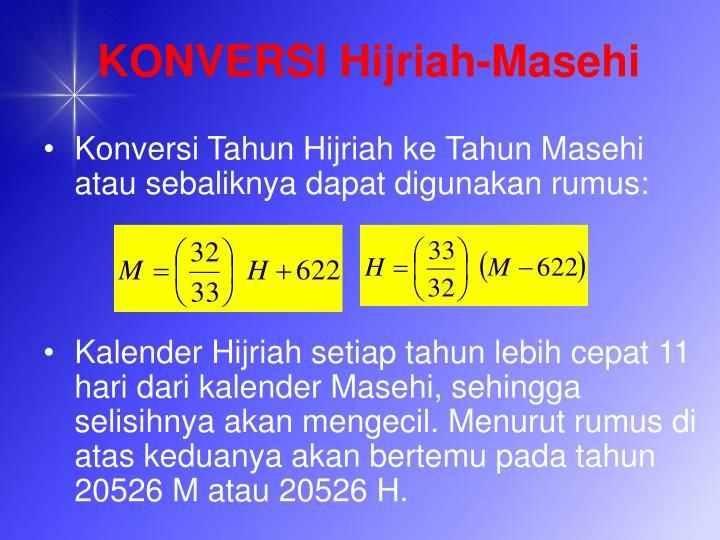 KONVERSI Hijriah-Masehi