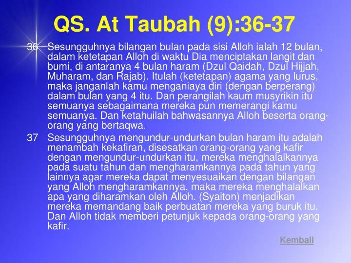 QS. At Taubah (9):36-37