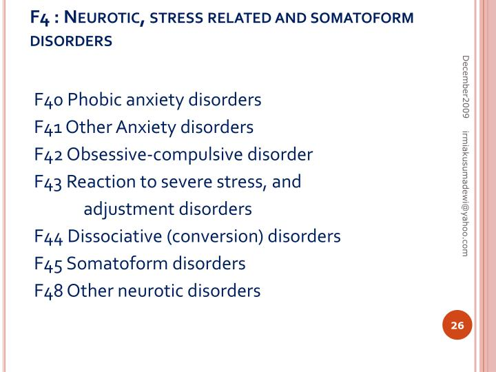 F4 : Neurotic