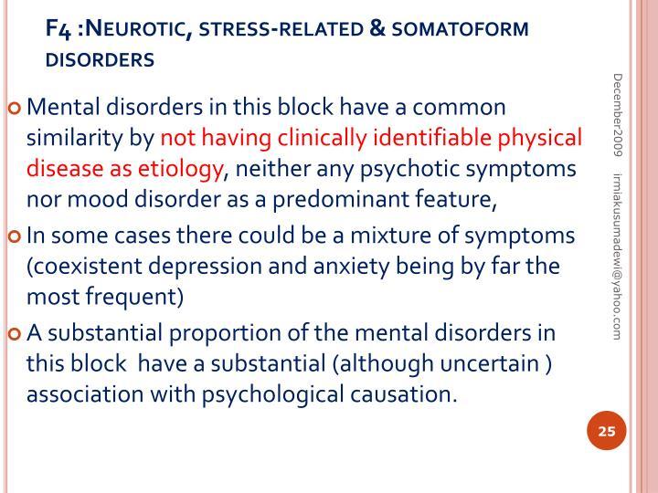 F4 :Neurotic