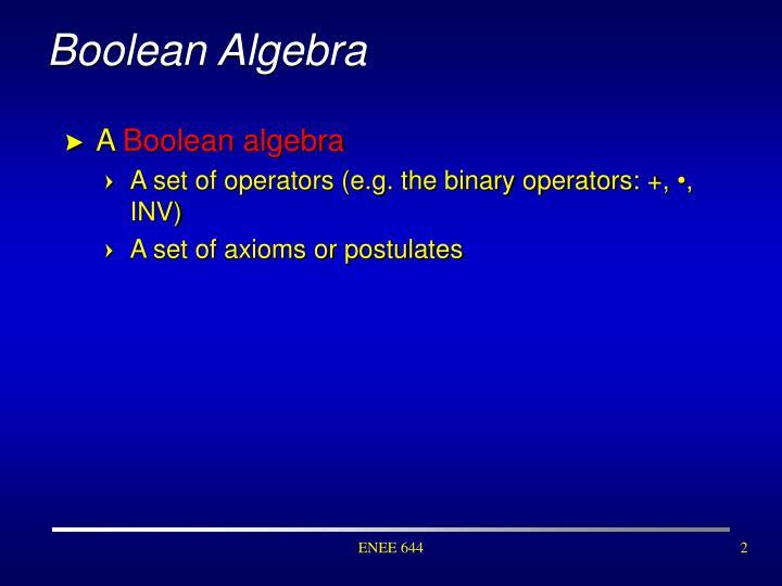 Boolean algebra1