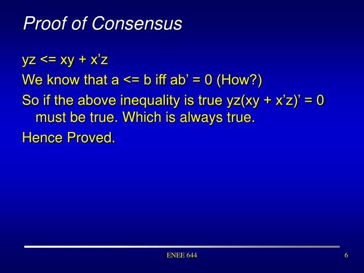 Proof of Consensus