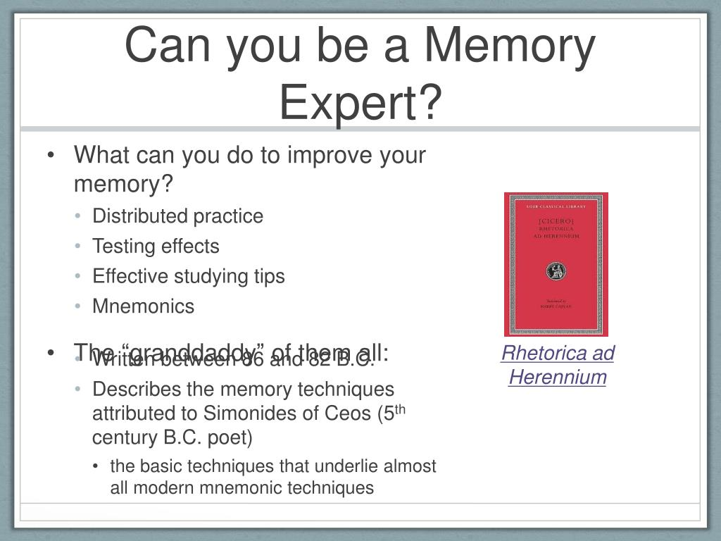 PPT - PSY 368 Human Memory PowerPoint Presentation - ID:1160235