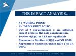 the impact analysis