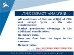 the impact analysis2