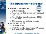 the importance of standards