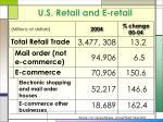 u s retail and e retail
