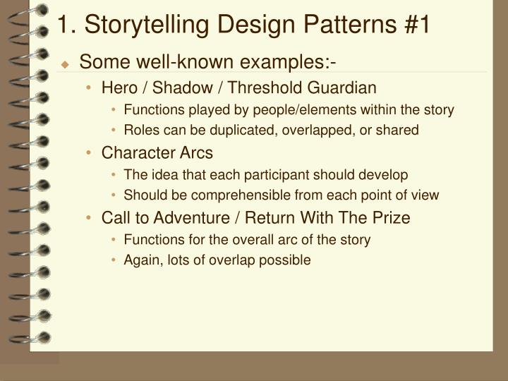 1. Storytelling Design Patterns #1