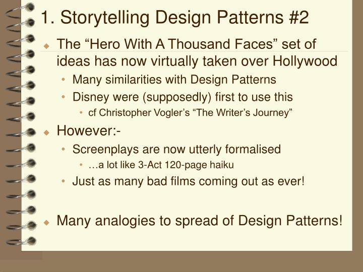 1. Storytelling Design Patterns #2