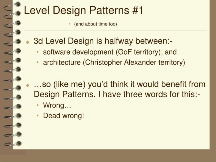 Level Design Patterns #1