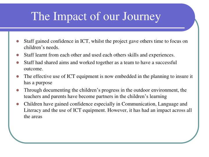 The Impact of our Journey